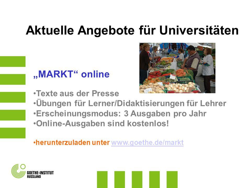 Aktuelle Angebote für Universitäten