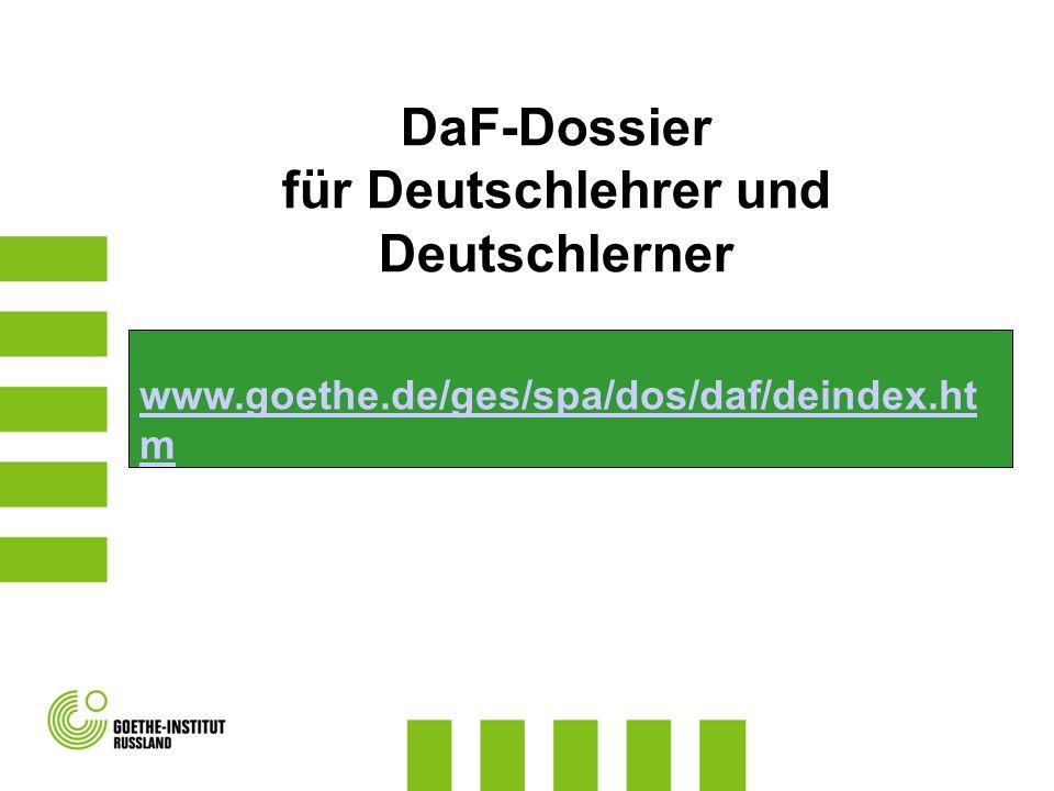 für Deutschlehrer und Deutschlerner