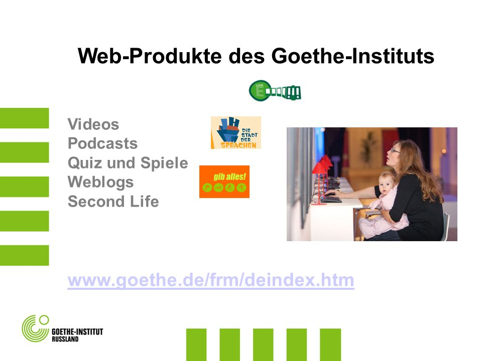Web-Produkte des Goethe-Instituts