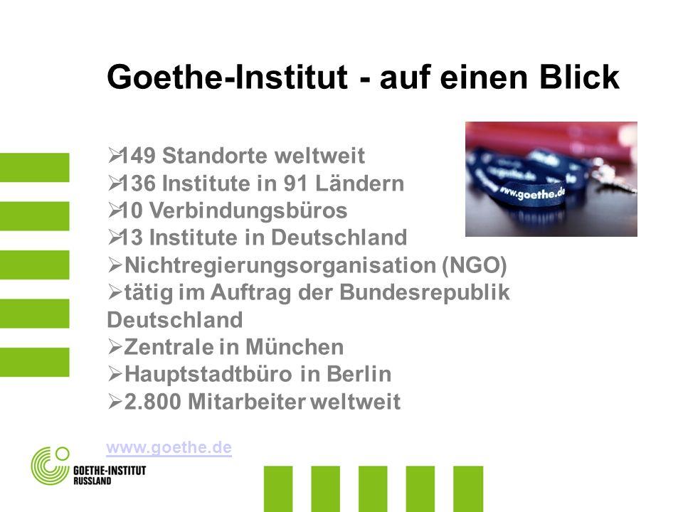 Goethe-Institut - auf einen Blick