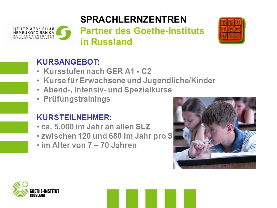 Partner des Goethe-Instituts in Russland
