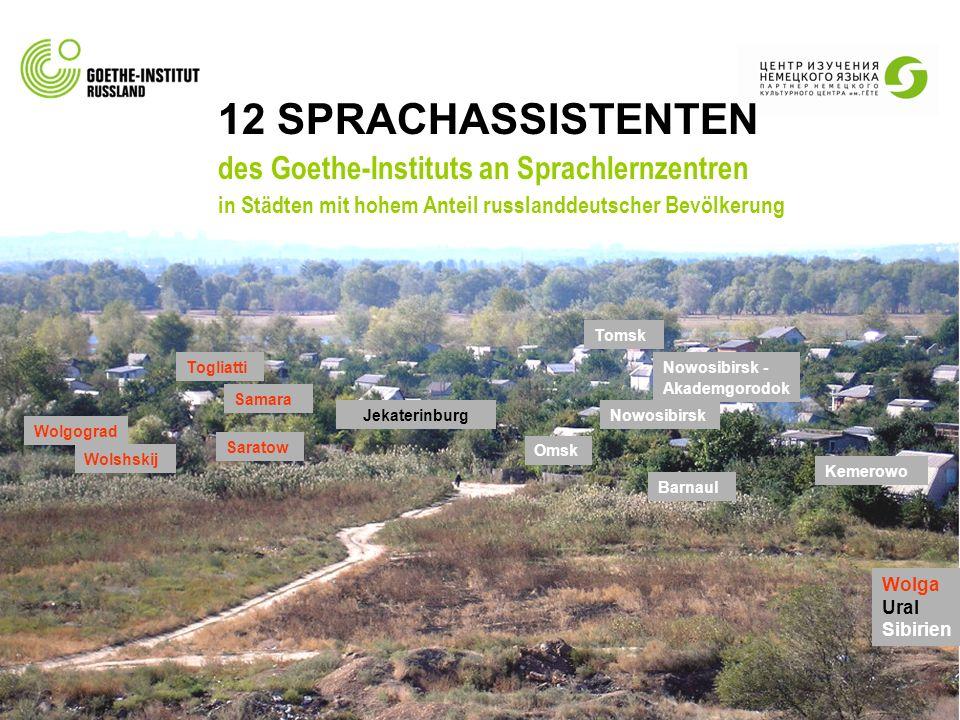 12 SPRACHASSISTENTEN des Goethe-Instituts an Sprachlernzentren