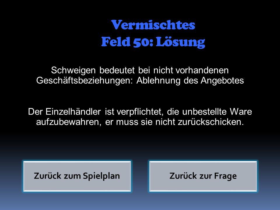 Vermischtes Feld 50: Lösung