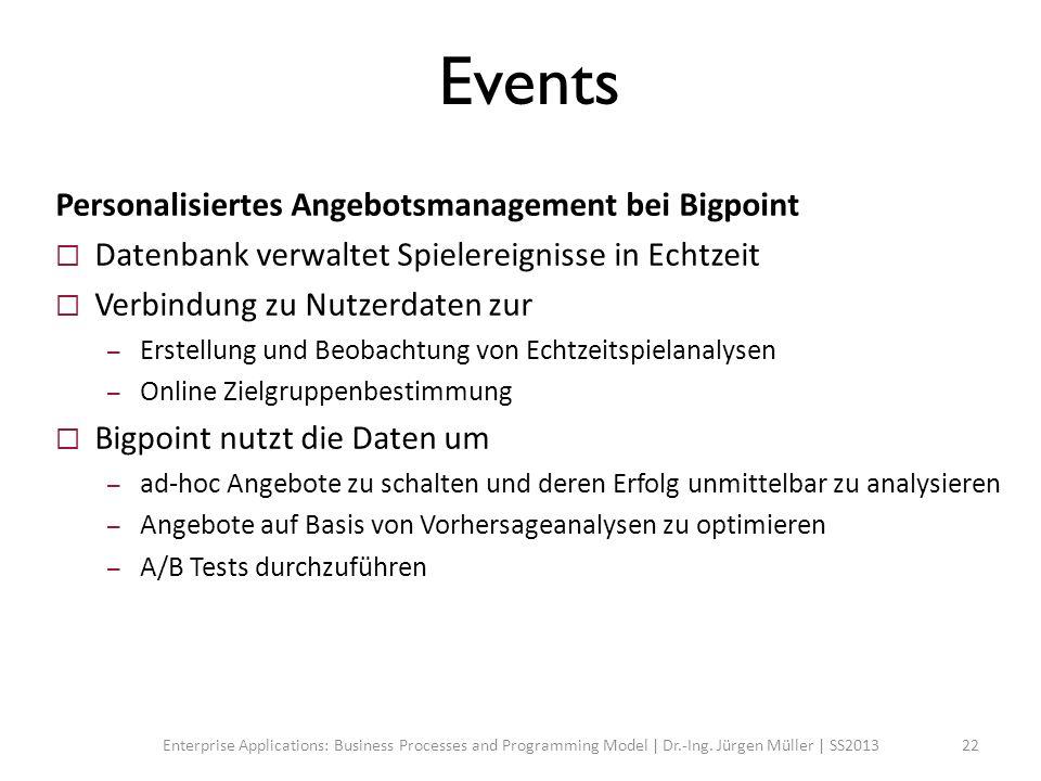 Events Personalisiertes Angebotsmanagement bei Bigpoint