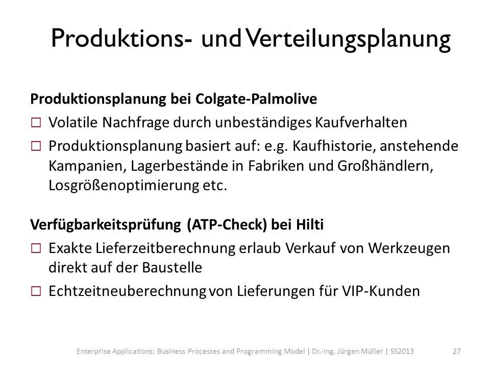Produktions- und Verteilungsplanung