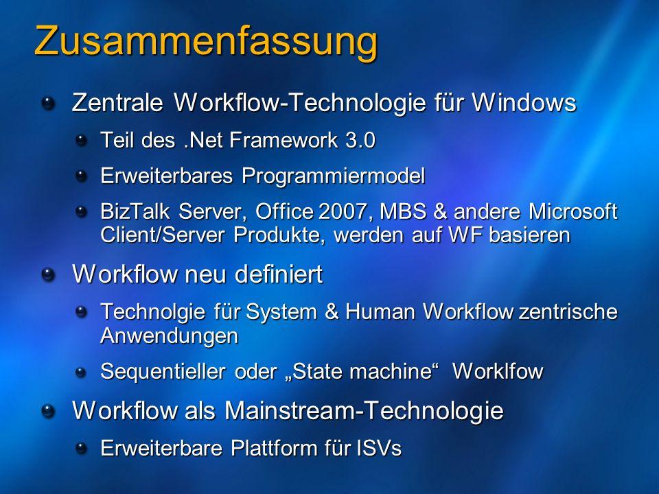 Zusammenfassung Zentrale Workflow-Technologie für Windows
