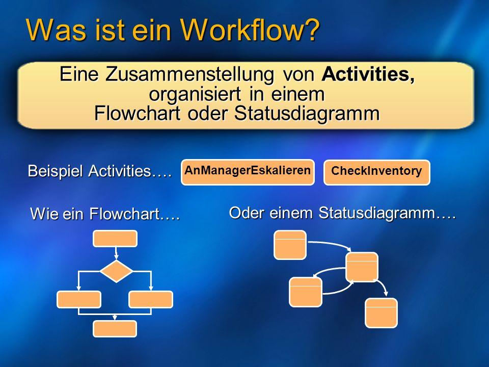 Was ist ein Workflow Eine Zusammenstellung von Activities,