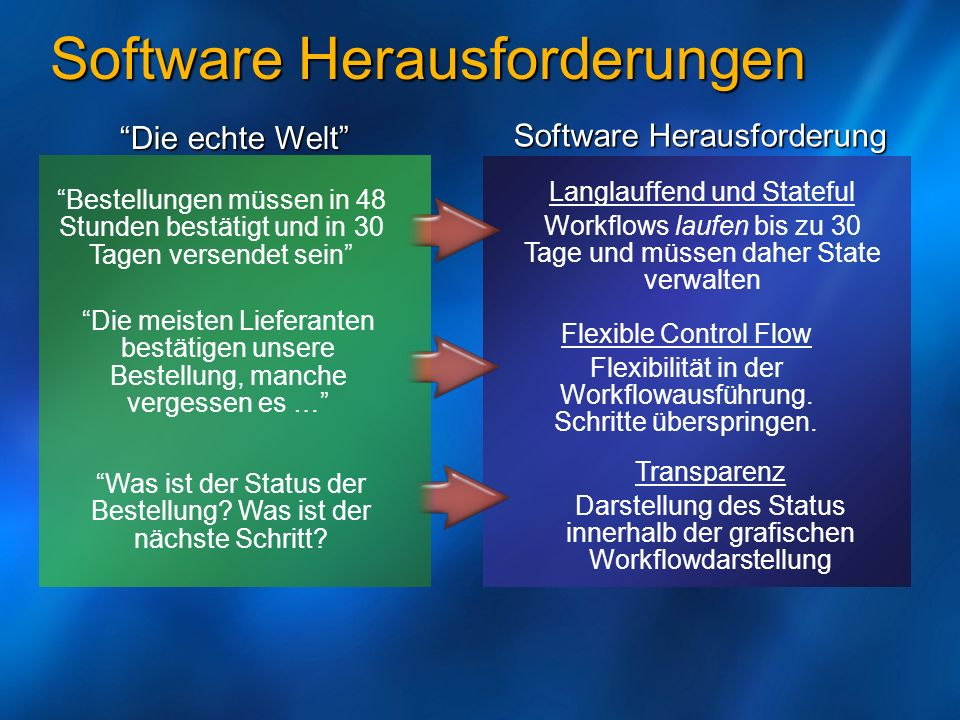 Software Herausforderungen