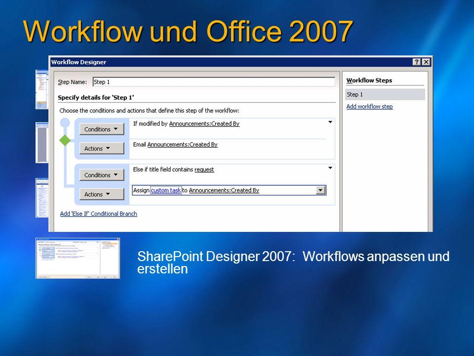 Workflow und Office 2007 Outlook: Benachrichtigungen empfangen