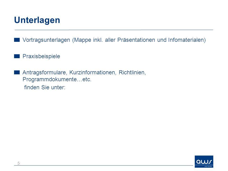 Unterlagen Vortragsunterlagen (Mappe inkl. aller Präsentationen und Infomaterialen) Praxisbeispiele.