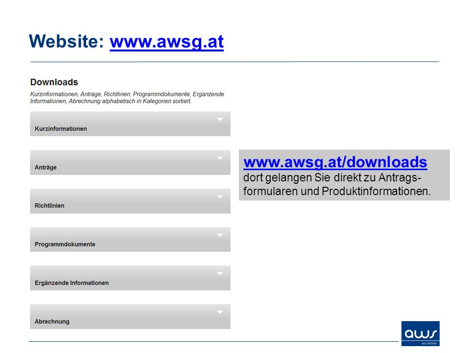 Website: www.awsg.at www.awsg.at/downloads