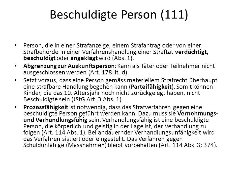 Beschuldigte Person (111)