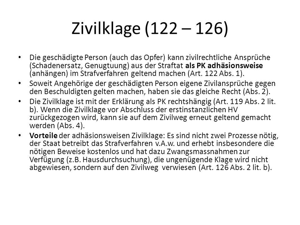 Zivilklage (122 – 126)