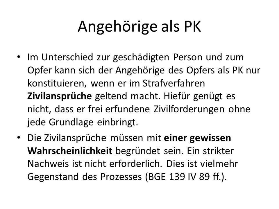 Angehörige als PK