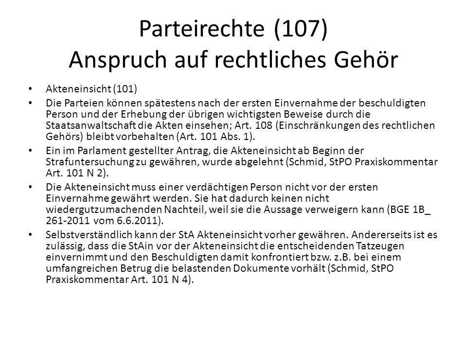 Parteirechte (107) Anspruch auf rechtliches Gehör