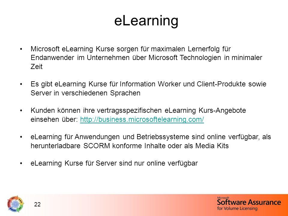 eLearningMicrosoft eLearning Kurse sorgen für maximalen Lernerfolg für Endanwender im Unternehmen über Microsoft Technologien in minimaler Zeit.