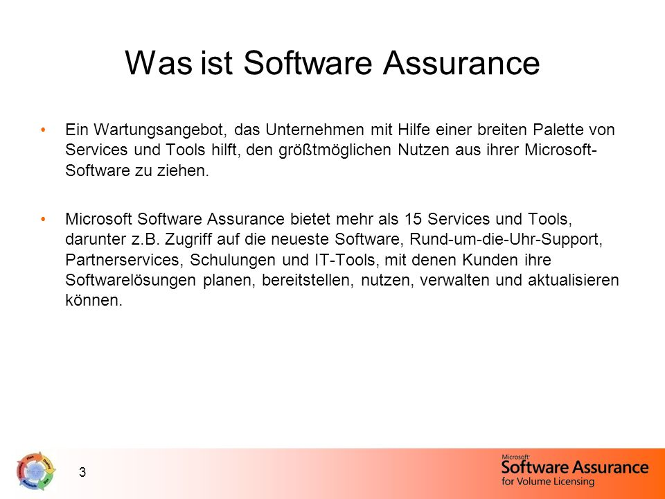 Was ist Software Assurance