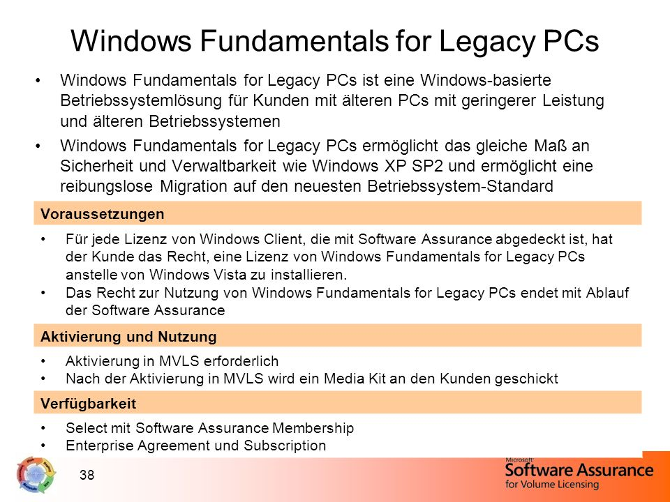 Windows Fundamentals for Legacy PCs