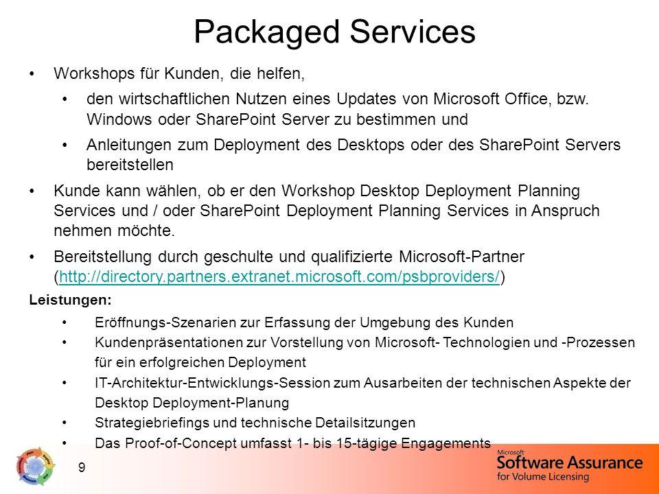 Packaged Services Workshops für Kunden, die helfen,