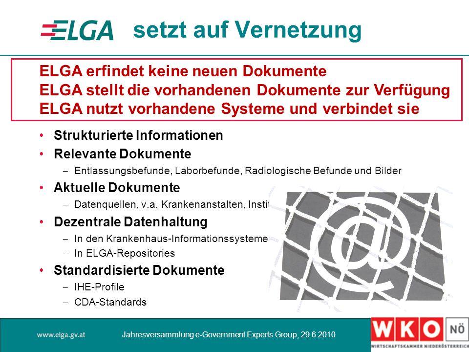 setzt auf Vernetzung ELGA erfindet keine neuen Dokumente
