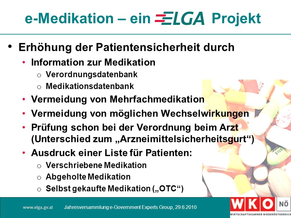 e-Medikation – ein Projekt