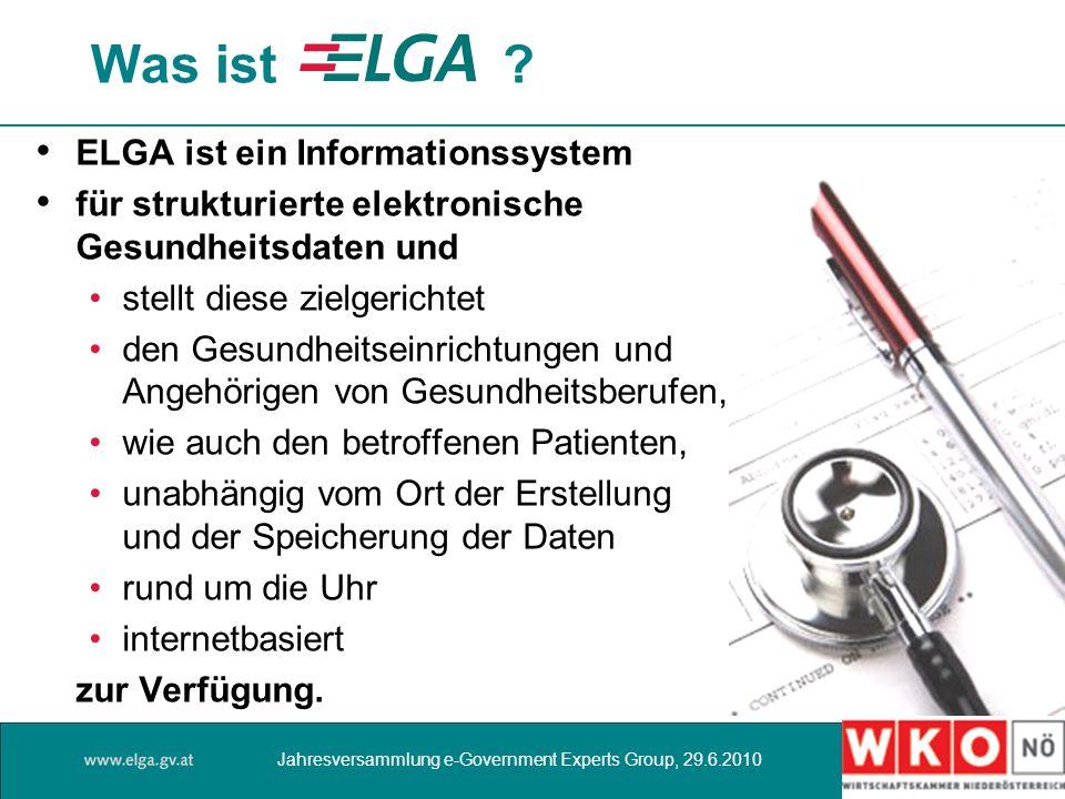 Was ist ELGA ist ein Informationssystem