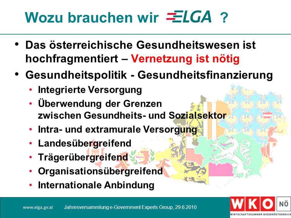 Wozu brauchen wir Das österreichische Gesundheitswesen ist hochfragmentiert – Vernetzung ist nötig.