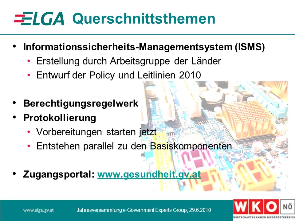 Querschnittsthemen Informationssicherheits-Managementsystem (ISMS)