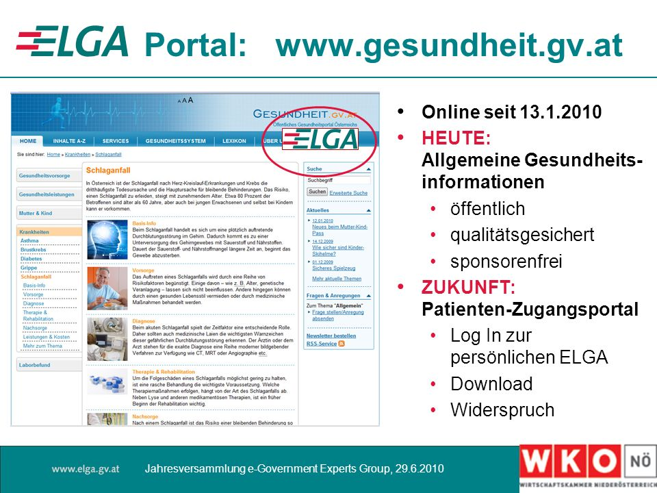 Portal: www.gesundheit.gv.at