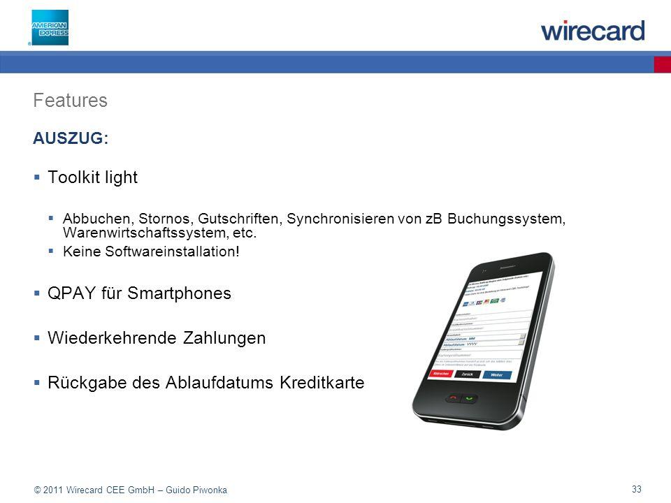 Features Toolkit light QPAY für Smartphones Wiederkehrende Zahlungen