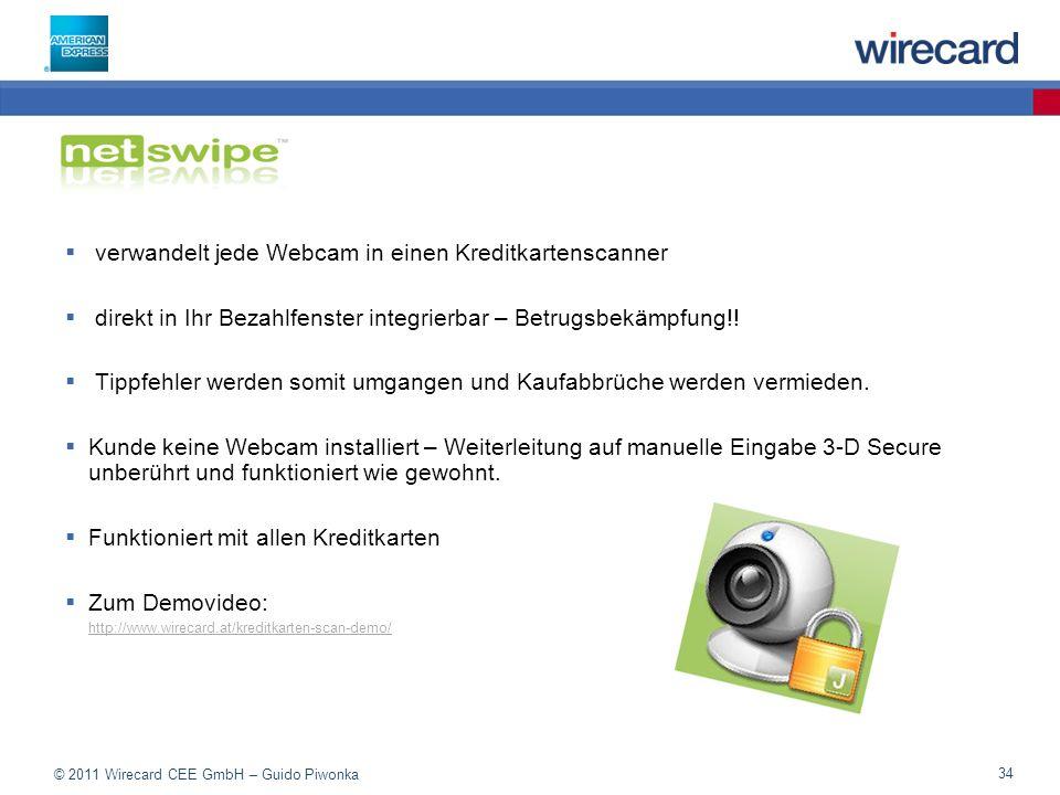 verwandelt jede Webcam in einen Kreditkartenscanner
