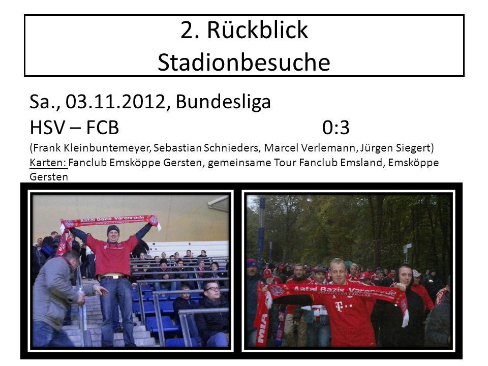 2. Rückblick Stadionbesuche