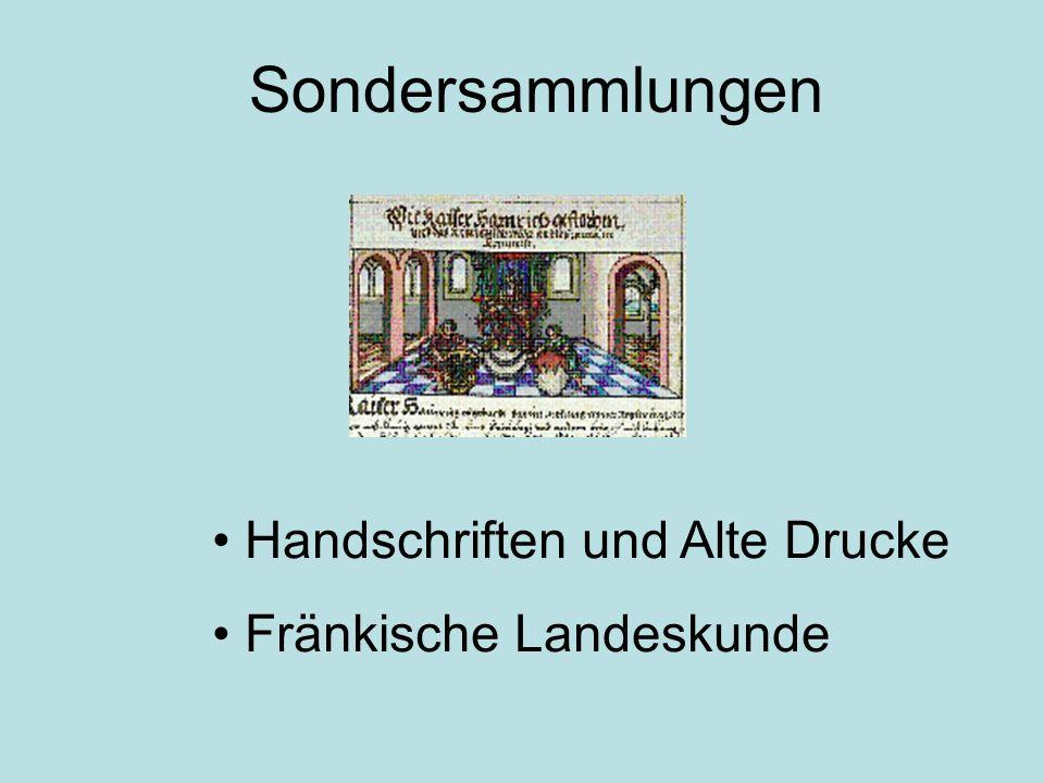 Handschriften und Alte Drucke Fränkische Landeskunde