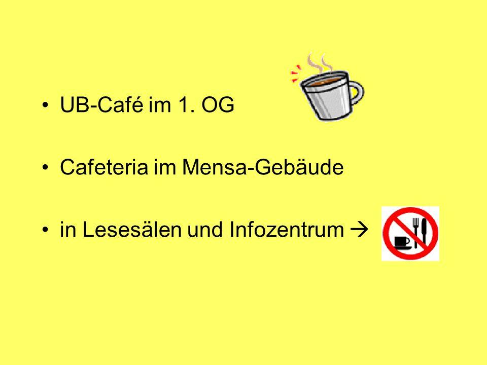 Cafeteria im Mensa-Gebäude in Lesesälen und Infozentrum 