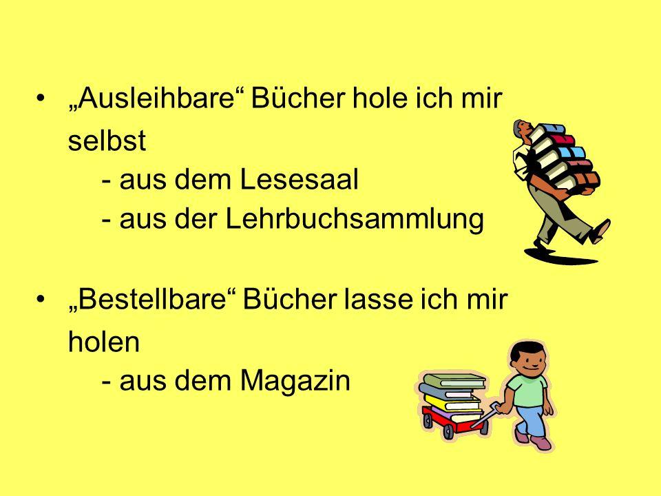 """""""Ausleihbare Bücher hole ich mir"""