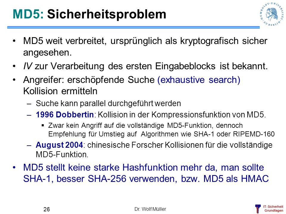 MD5: Sicherheitsproblem