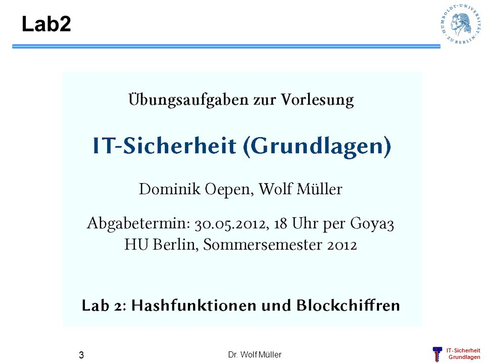 Lab2 Dr. Wolf Müller