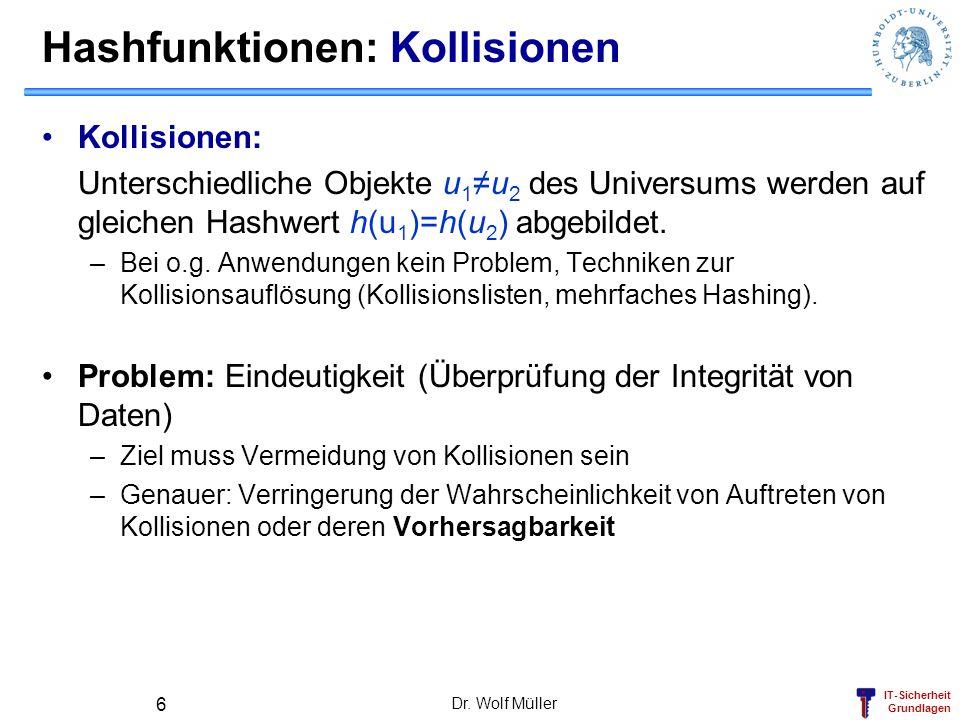 Hashfunktionen: Kollisionen