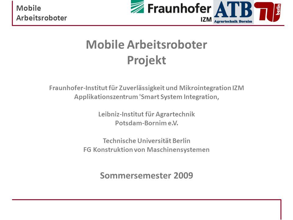 Mobile Arbeitsroboter Projekt