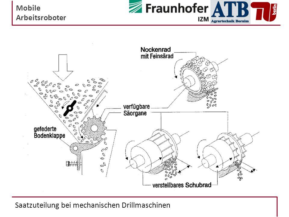 Saatzuteilung bei mechanischen Drillmaschinen