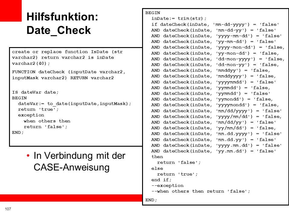 Hilfsfunktion: Date_Check
