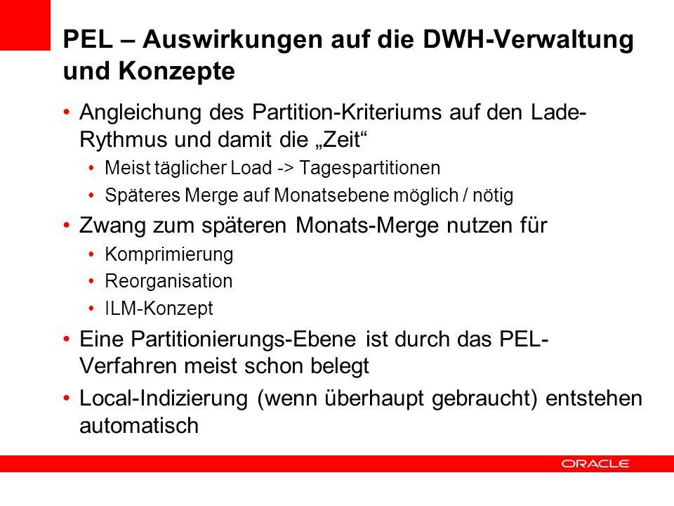 PEL – Auswirkungen auf die DWH-Verwaltung und Konzepte