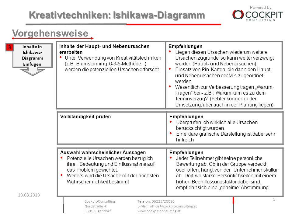 Vorgehensweise 3 Inhalte in Ishikawa- Diagramm Einfügen