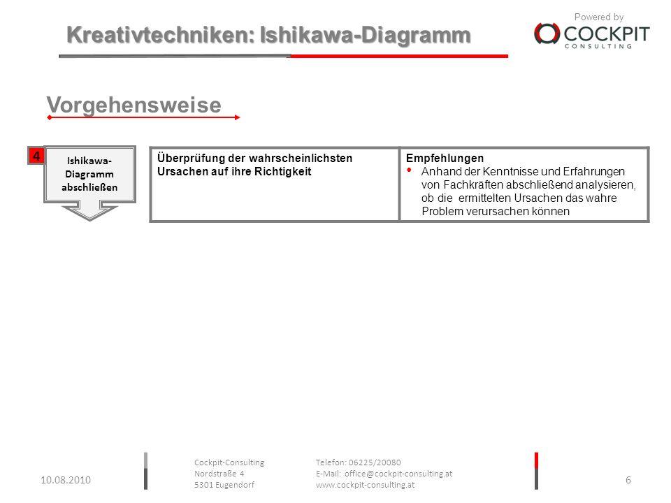 Vorgehensweise 4 Ishikawa- Diagramm abschließen