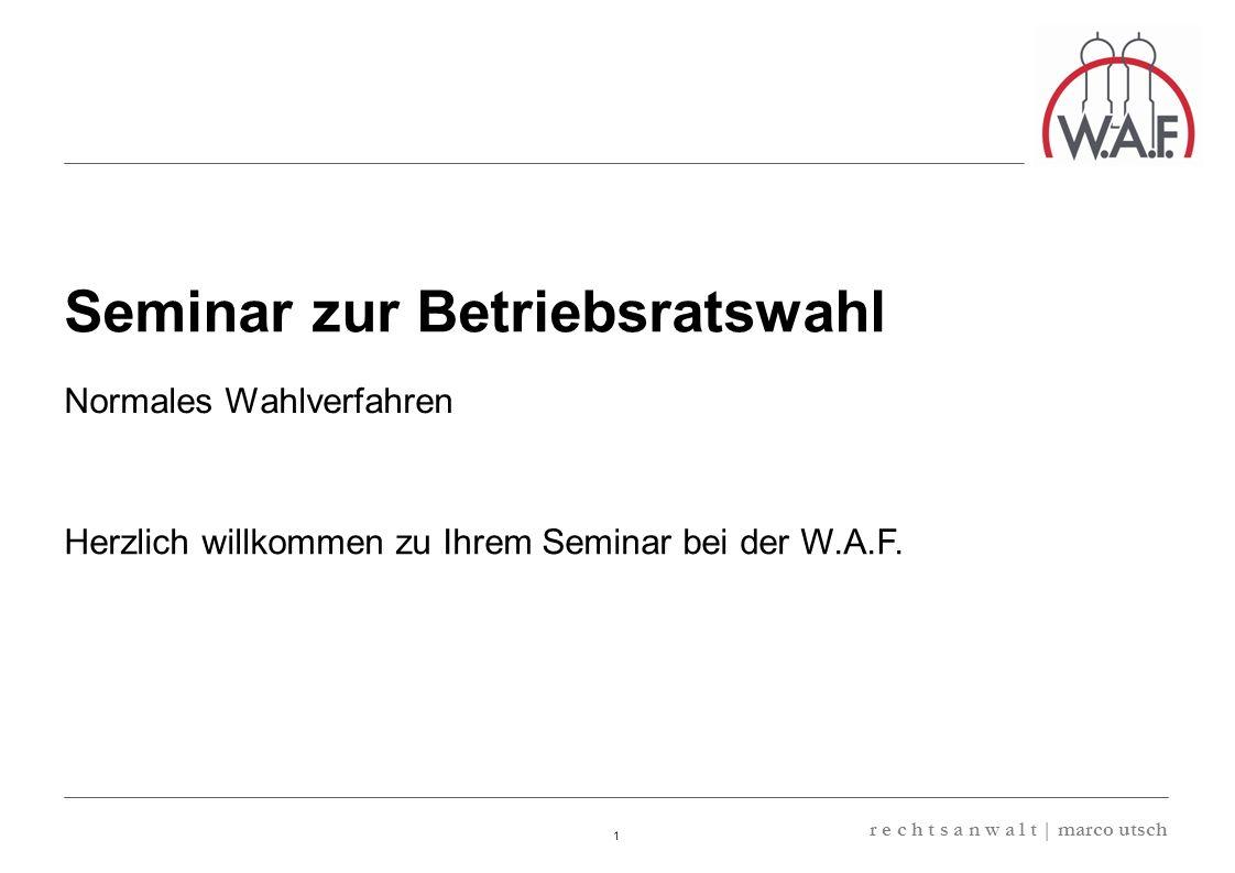 Seminar zur Betriebsratswahl