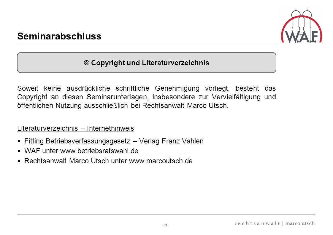 © Copyright und Literaturverzeichnis