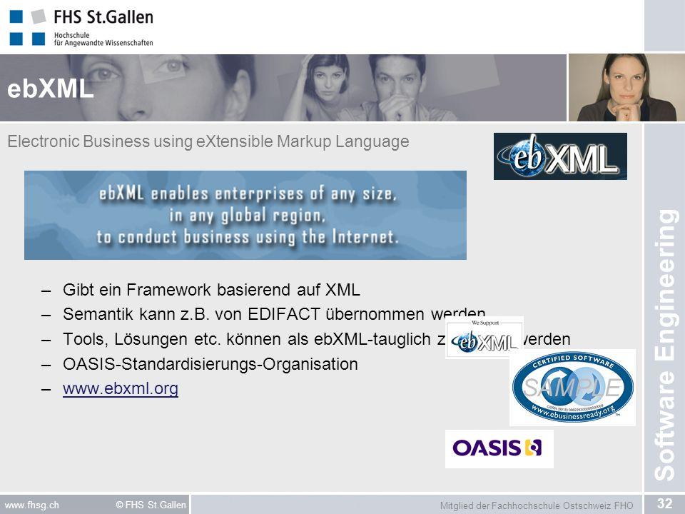 ebXML Gibt ein Framework basierend auf XML