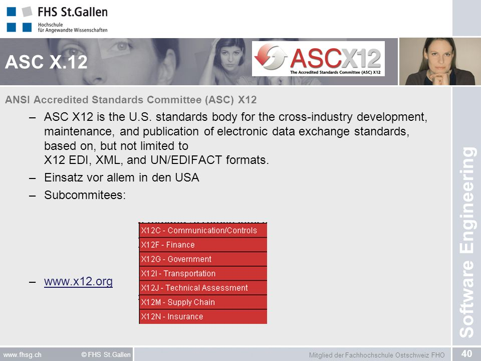 ASC X.12 ANSI Accredited Standards Committee (ASC) X12.