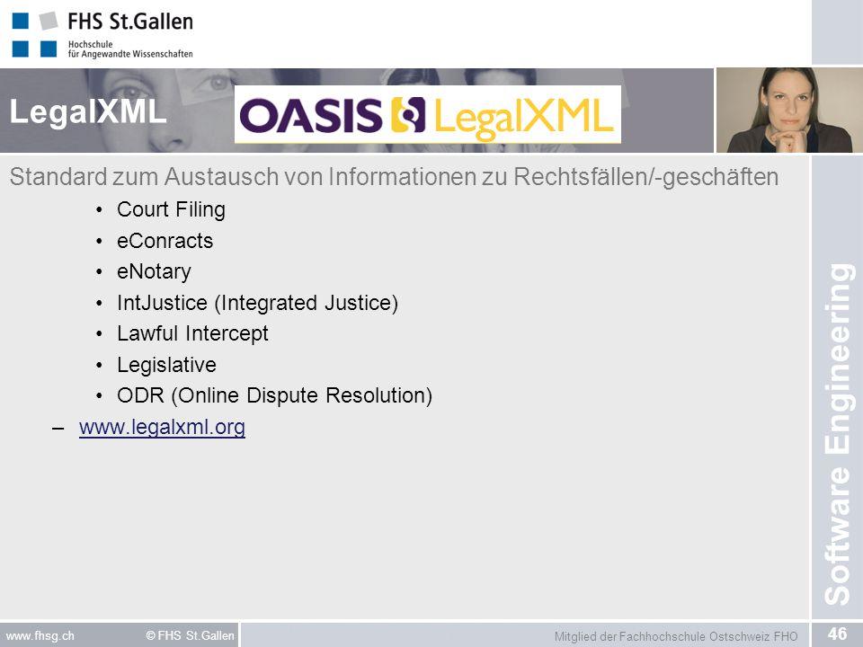 LegalXML Standard zum Austausch von Informationen zu Rechtsfällen/-geschäften. Court Filing. eConracts.