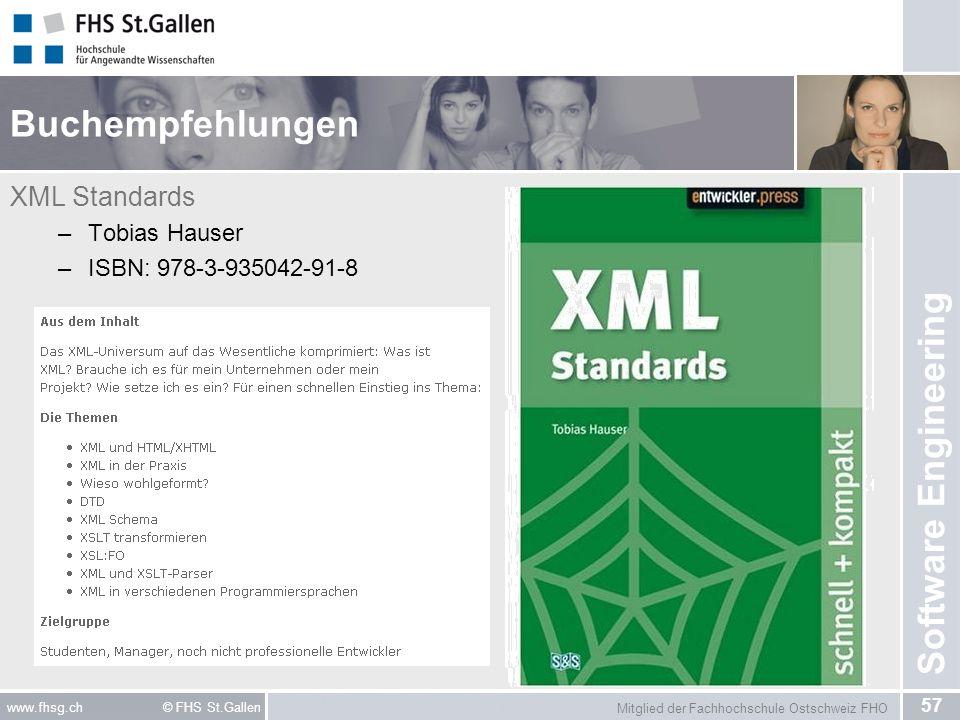 Buchempfehlungen XML Standards Tobias Hauser ISBN: 978-3-935042-91-8